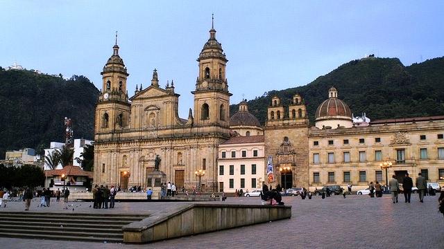 Plaza Bolivar in Bogota, Colombia