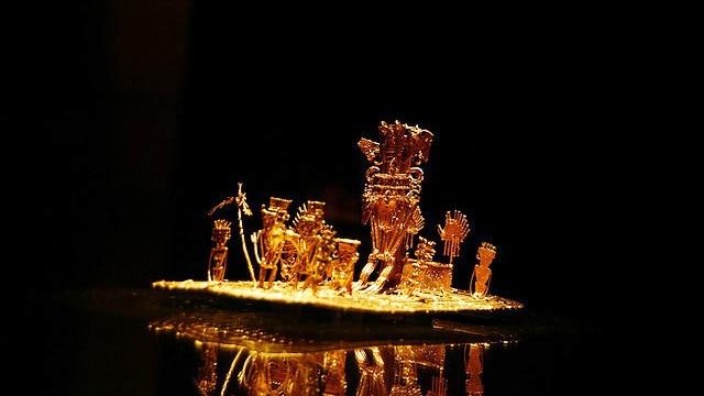 Muisca Gold Raft, Gold Museum in Bogota