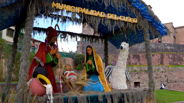 Cusco Christmas nativity