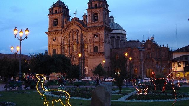 Cusco Christmas lights