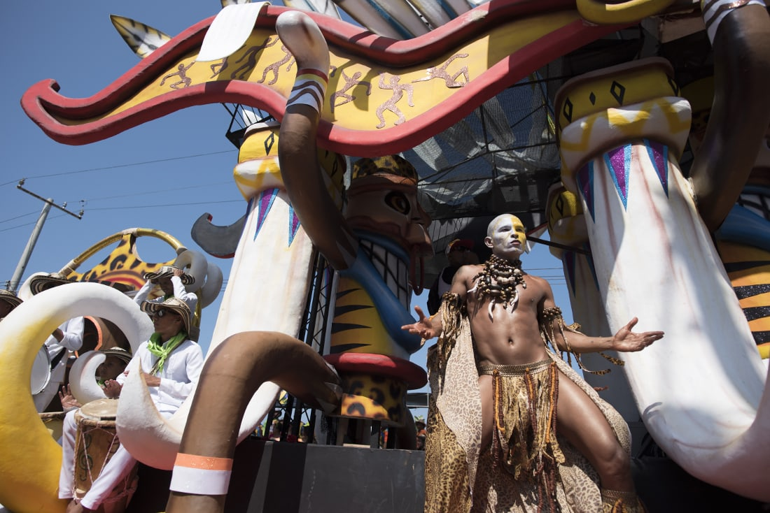 One of the many Batalla de Flores floats, built Carnival experts and an essential part of the first parade. Rewriting the Map/Emanuel Echeverri