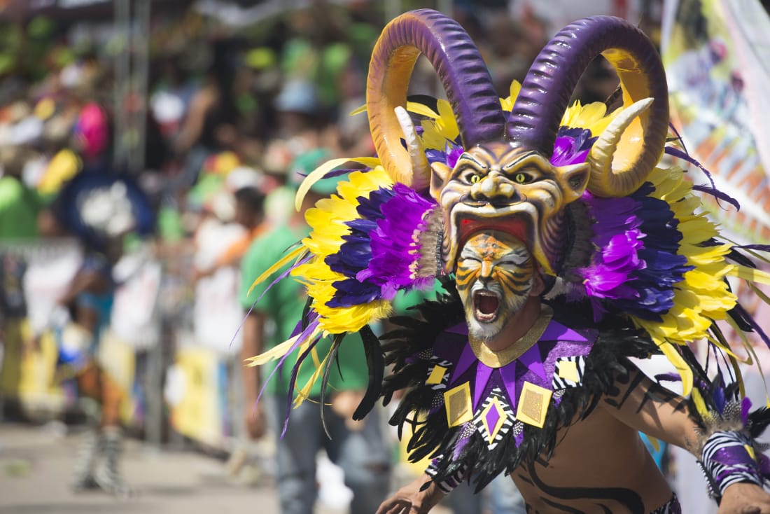 Detailed costumes are a common site during the various parades. RewritingtheMap/Emanuel Echeverri