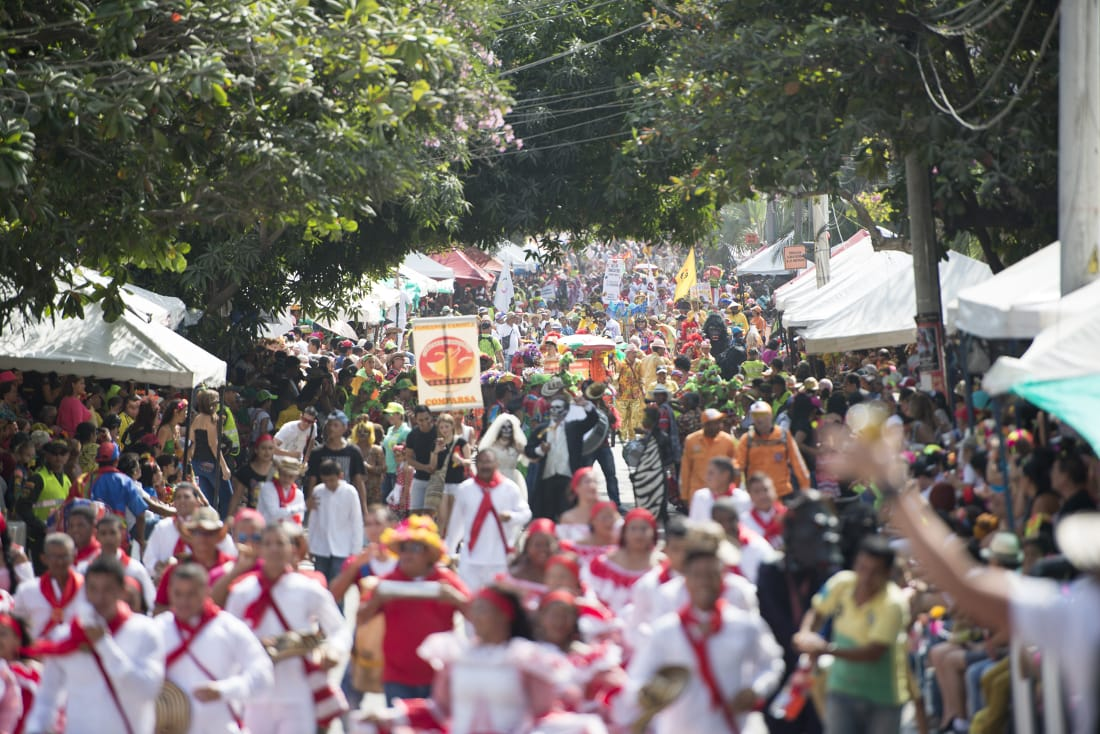 While Barranquilla's Carnival has one main road shut for Parade's there are many that occur all throughout the cities neighborhoods. RewritingtheMap/Emanuel Echeverri