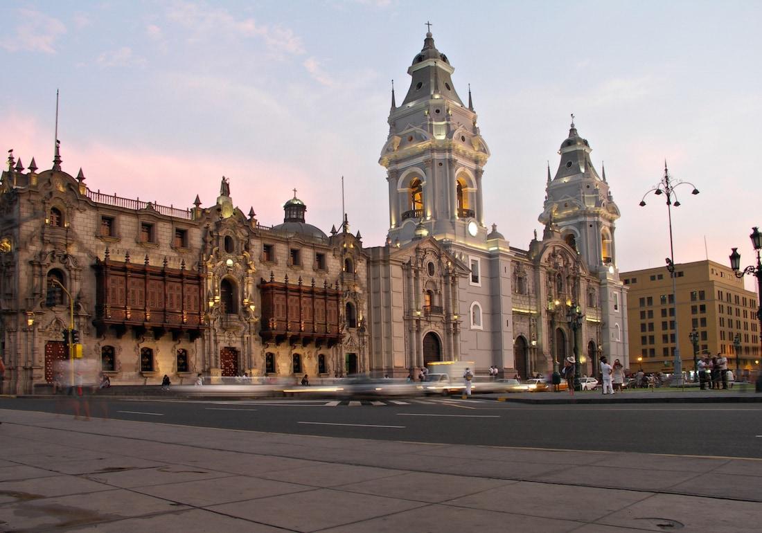 Dazzling Lima Peru at sunset.