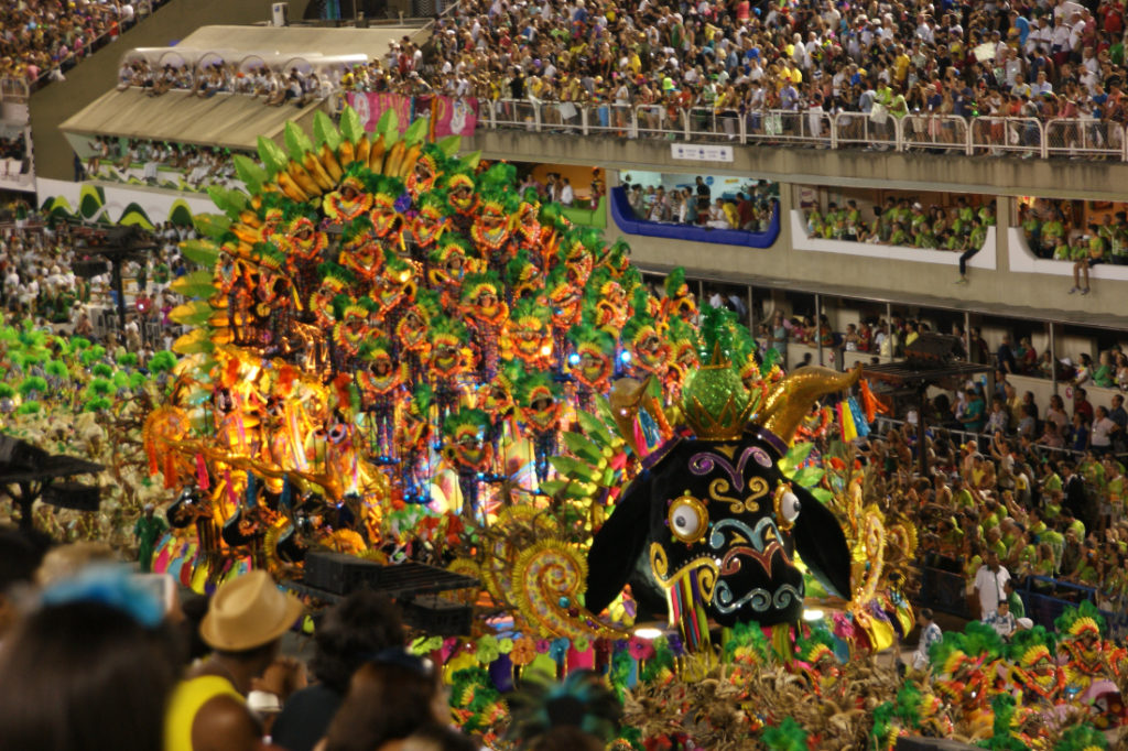 Parade during carnival South America