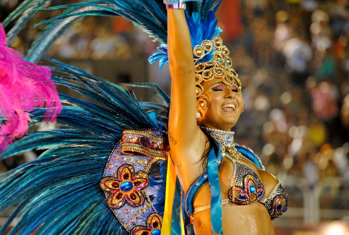 Samba Schools at Carnival Parade in Rio de Janeiro, Brazil