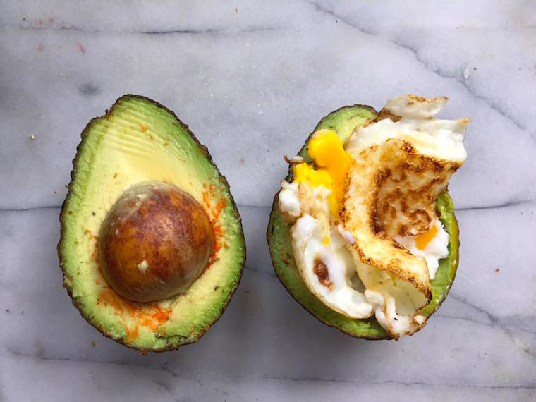 Scrambled Egg Crowned Avocado