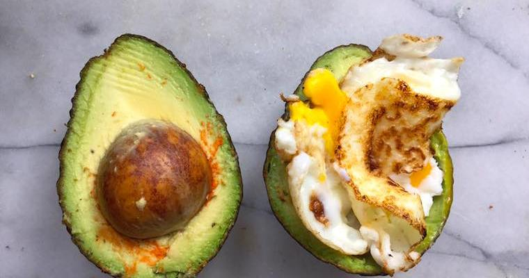 Scrambled Egg Crowned Avocado