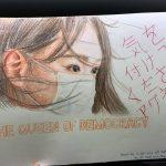 周庭さんの支援者が描いたイラスト
