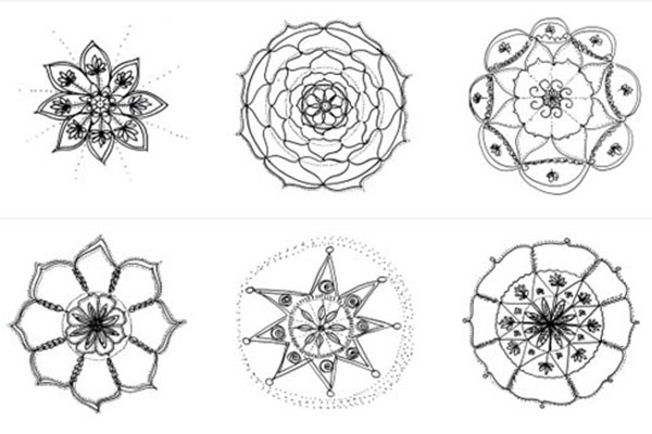 Draw and Color Expressive Mandala art (Mandala I)
