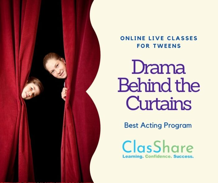 drama can drain us, and drama classes provide an outlet for that energy. Classhare Intro To Drama 5 Week Session