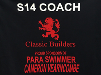 Classic Builders Sponsor Para Swimmer Cameron Vearncombe