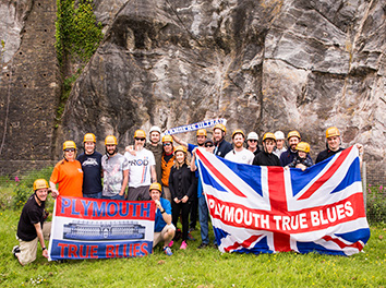 Charity abseil at the Mount Batten Centre