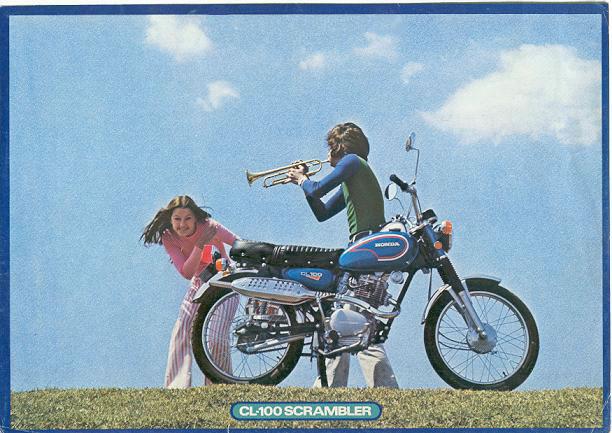 1972 triumph bonneville wiring diagram 1999 acura tl stereo honda sales brochures classic motorbikes cl100 scrambler advert