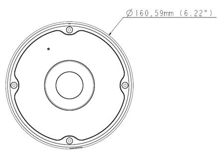 GeoVision Inc. GV-FER5700 5MP H.265 Low Lux WDR IR Fisheye
