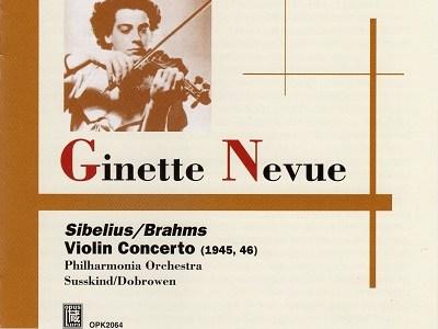 ヌヴー ドブロウェン指揮フィルハーモニア管 ブラームス協奏曲(1946.8録音)ほかを聴いて思ふ