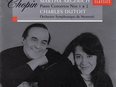 アルゲリッチ デュトワ指揮モントリオール響 ショパン協奏曲第1番&第2番(1998.10録音)を聴いて思ふ