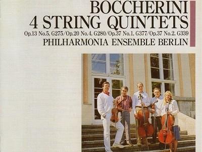 フィルハーモニア・アンサンブル・ベルリン ボッケリーニ 弦楽五重奏曲集(1987.6録音)