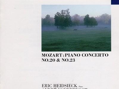 ハイドシェック ヴァンデルノート指揮パリ音楽管 モーツァルト ピアノ協奏曲第20番K.466(1960.6.3録音)ほか