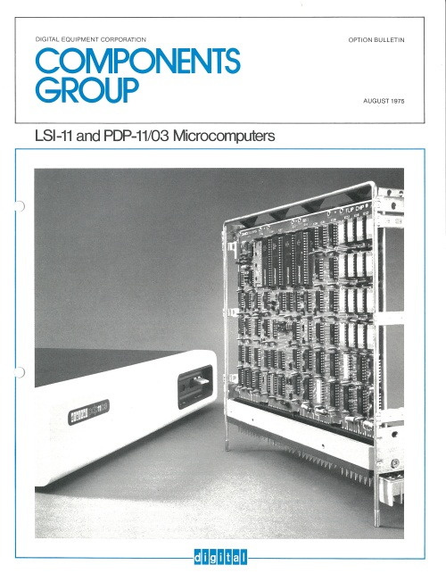 LSI-11 and PDP-11/03 Microcomputers Option Bulletin August 1975
