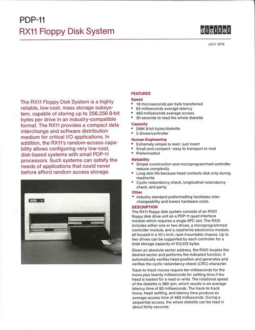 RX11 Floppy Disk System