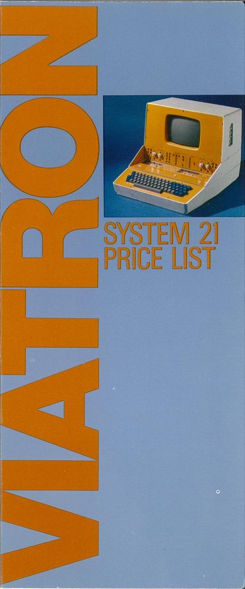 Viatron System 21 Price List