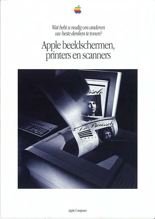 Apple beeldschermen, printers en scanners