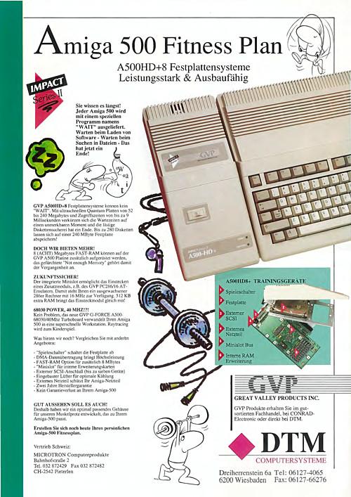 Amiga 500 Fitness Plan (GVP A500HD+8)
