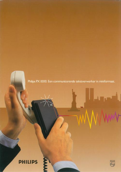 Philips PX 1000. Een communicerende tekstverwerken in miniformaat