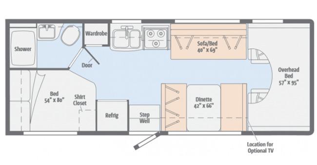 #20 Standard Class C Floor Plan