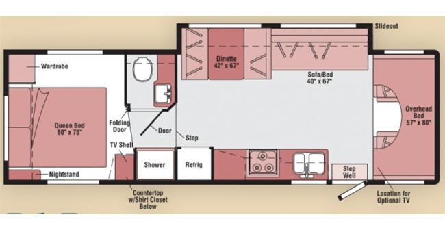 #22 Classic Class C Floor Plan
