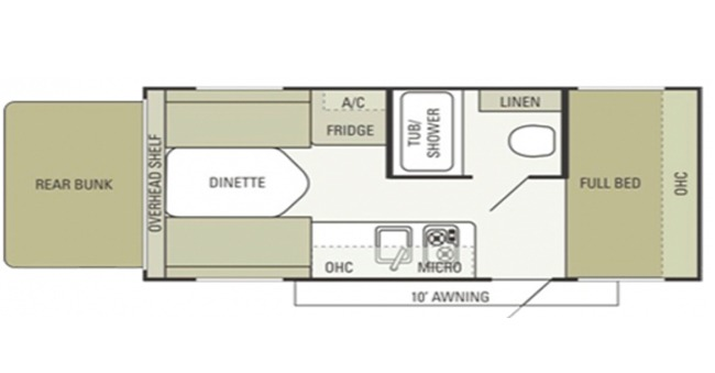 #6 Hybrid Trailer Floorplan