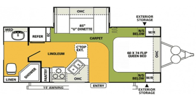 #7 Super Lite Trailer Floorplan