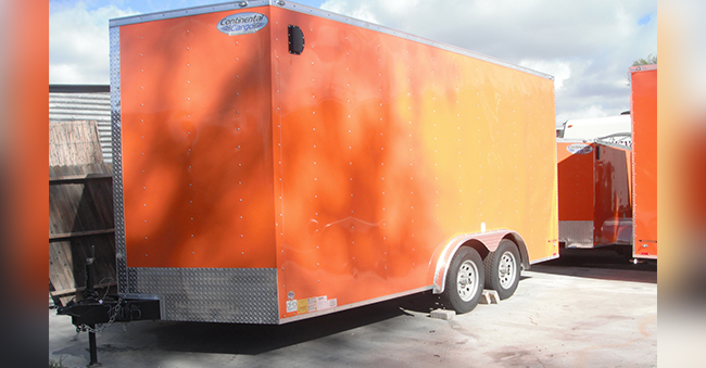 16×8 FOOT UTILITY TRAILER W/ REAR RAMP