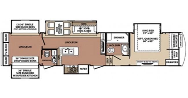 5th Wheel #1 Floorplan
