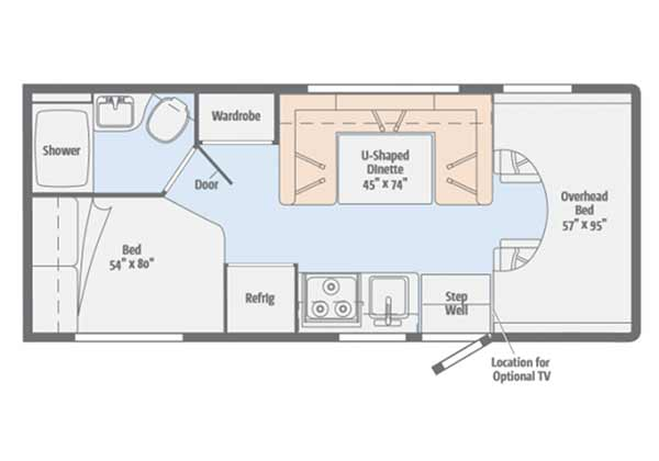 Floor Plans for all of our available RVs, Camping Trailers and more
