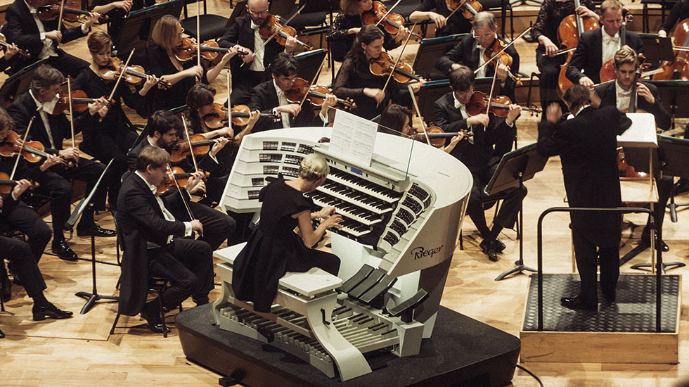 L'Orchestre symphonique de la Radiodiffusion bavaroise, Mariss Jansons, et Iveta Apkalna