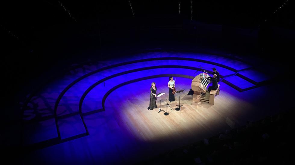 Karine Deshayes, mezzo-soprano, Lise Berthaud, alto et Yves Lafargue, orgue