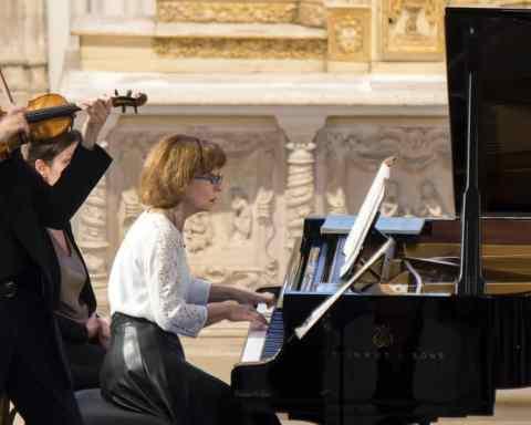 Anne Queffélec et Olivier Charlier en concert à Noyers sur Serein