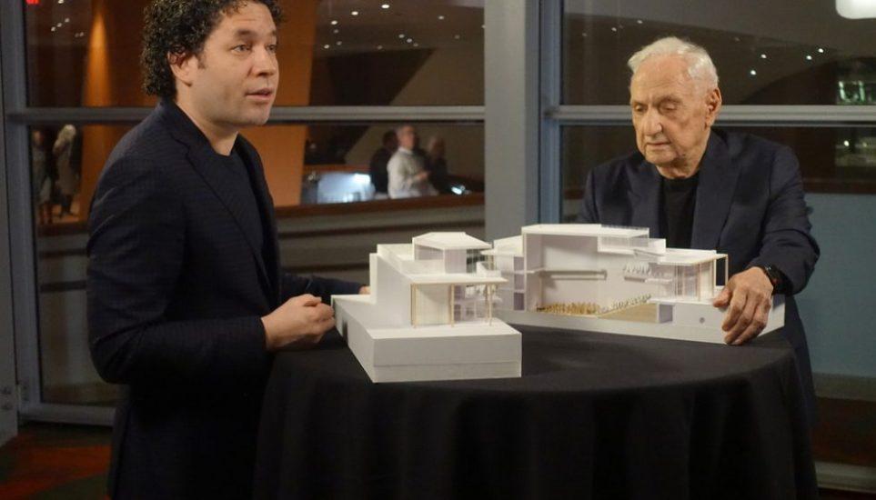 Gustavo Dudamel et l'architecte Frank Gehry