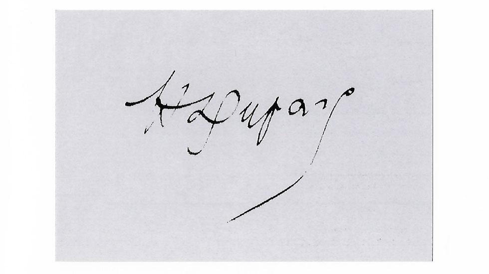 La signature de Henri Duparc
