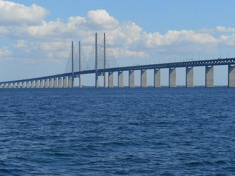 Pont de l'Øresund, qui relie la Suède au Danemark