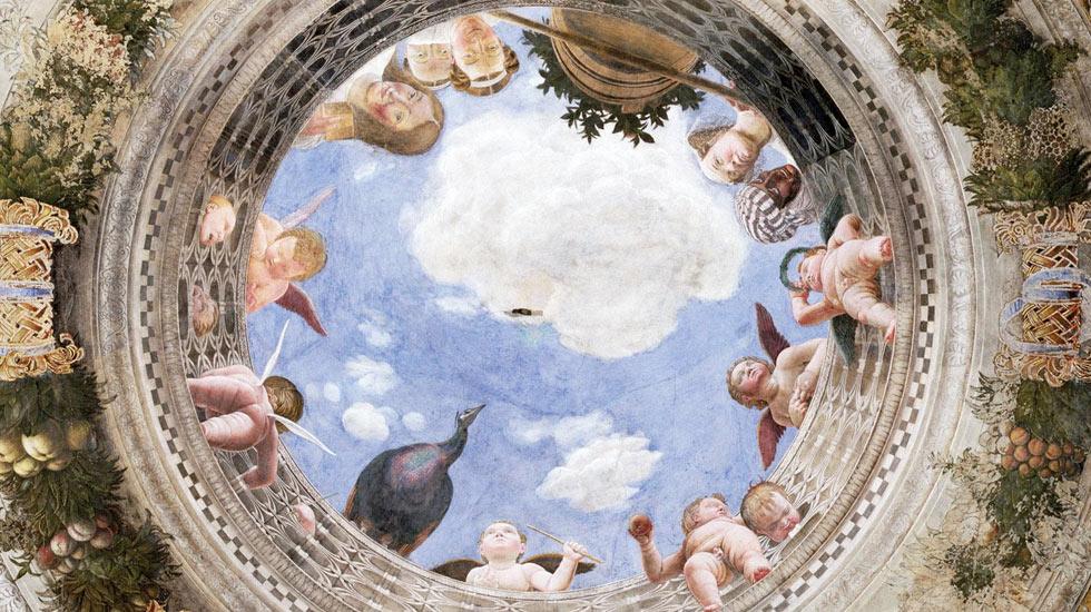 Voûte et faux oculus - Chambre des Époux, Palazzo Ducale de Mantoue / Andrea Mantegna
