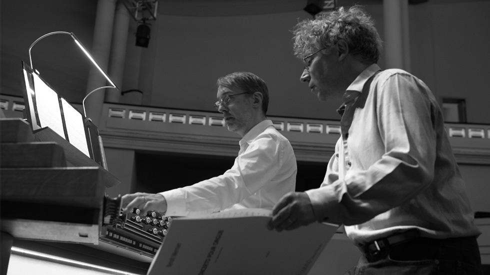 Olivier Latry et Benoît Mernier © Yves Gervais