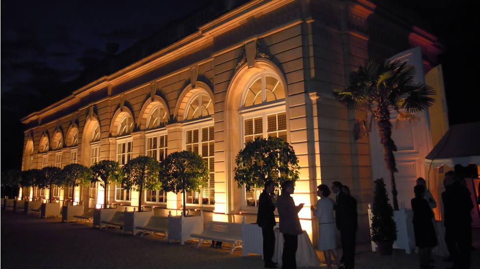 Orangerie du parc de Bagatelle le soir ©Société Chopin