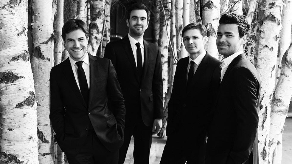 Portrait du quatuor Modigliani / Rencontres musicales d'Evian