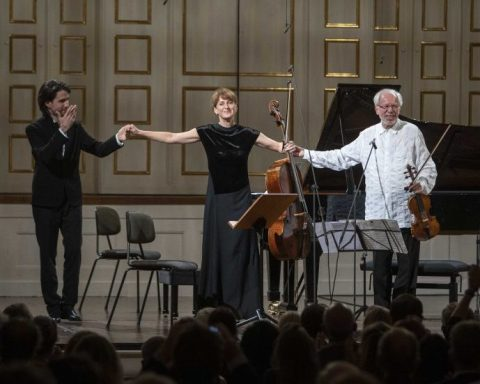 Georgijs Osokin, Giedré Dirvanauskaité et Gidon Kremer au festival de Salzbourg © SF / Marco Borrelli