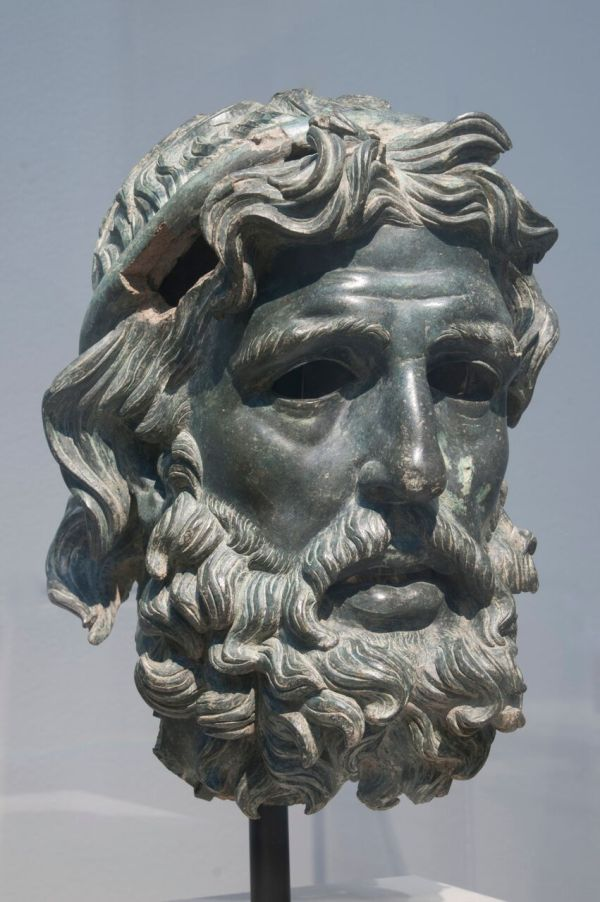 Poseidon Greek God Head Statue