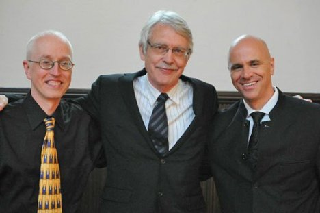 Michael Beattie Emmanuel Music Artistic Administrator, Great Gatsby opera composer, John Harbison; Gatsby conductor and Emmanuel Music Artistic Director Ryan Turner (Julian Bullitt photo)