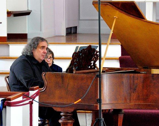 Eric Stumacher at Streicher (Christopher Greenleaf photo)